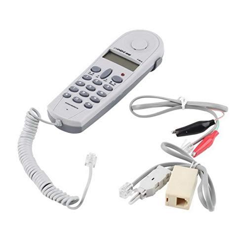 Ba30DEllylelly Teléfono Teléfono Probador de Prueba a Tope Herramienta de instalador de líneas Juego de Cables de Red Probador de Cable de Red con Conectores y ensamblador C019