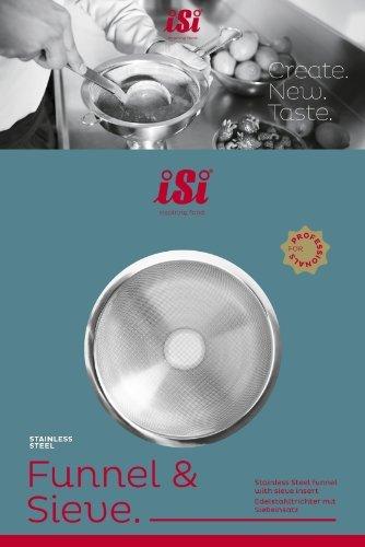 ISI América del Norte 2714embudo de acero inoxidable y tamiz combinación Set por iSi América del Norte