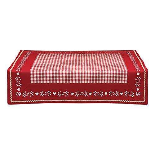 Winkler - Nappe - Nappe carrée - Nappe 100% Coton - Nappe entretien facile - Nappe antitache - Nappe table salon - 90 x 90 - Rouge - Nahia