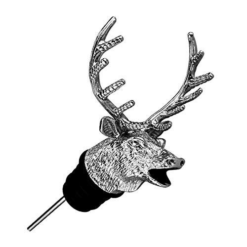 3D Deer Head Shape Wine Vertedor Animal Wine Pourer Spout Tapón de silicona