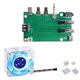 GeeekPi Raspberry Pi 4 Kit de caja de extensión con ventilador 4010 5V (luz LED azul) + disipadores de calor Raspberry Pi 4 para Raspberry Pi 4 Modelo B