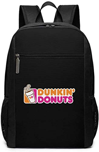 TTmom Schulrucksack,Schüler Bag,Rucksack Damen Herren Dunkin Donuts Logo Backpack Laptop Backpack School Bag Travel Backpack 17 Inch