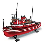 Vintage Fuel Texaco Firefighting Tugboat Fully Assembled Die Cast Model, 1/55 Scale
