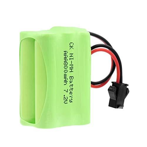 RitzyRose Batería AAA 7.2v 800mah, Paquete Nimh Recargable con Paquetes De Conector SM 2P