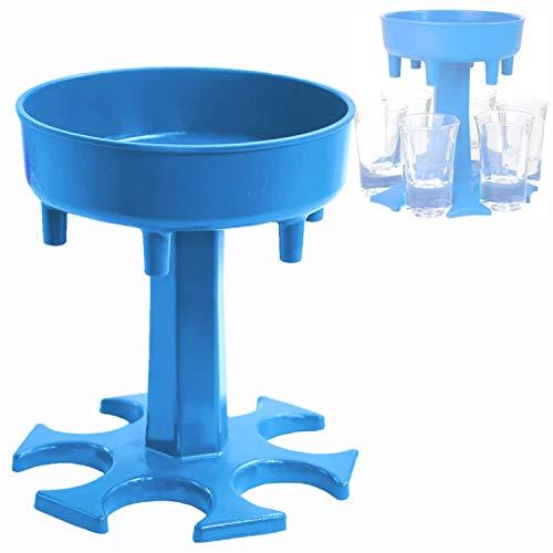 Dispensador de vasos de chupito y dispensador de bebidas de whisky con soporte, dispensador de licor para fiestas, juegos de beber(sin vidrio)