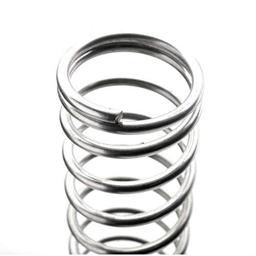 De metal muelle de compresión y extensión de Prima Resorte de compresión Blanca galvanizado Diámetro de alambre de 1 mm de la tensión del resorte de hardware de 13 mm de diámetro exterior de 14 mm Acc