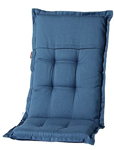 Madison 7PHOS-F293 stoelkussen, hoge rib, 123 x 50 cm, katoen/polyester, grijs