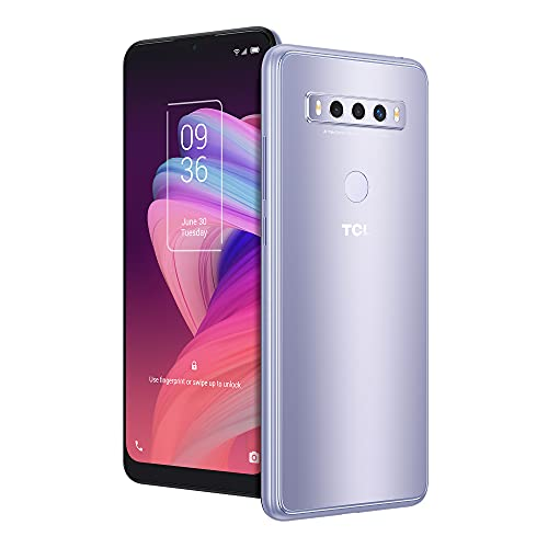 TCL 10 SE Unlocked Android Smartphone, 6.52 V-Notch Display, US Version Cell Phone with 16 MP Rear AI Triple-Camera 4GB RAM + 64GB ROM, 4000mAh Fast Charging Battery, ICY Silver