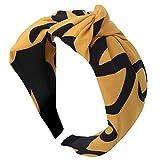 IYU_Dsgirh Bandeau à la mode pour femmes noeud bandeau simple beauté douce (Yellow)