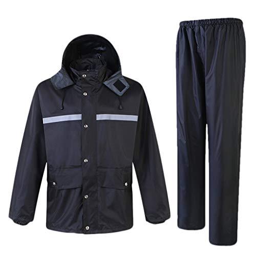 Pocket Vesten Hi Vis Viz & Plain Regenpak 2 Stuk Hoge Zichtbaarheid Mannen Hooded Regenpak Jas & Broek Waterdichte Werkkleding Regenkleding