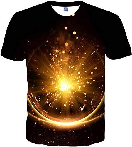 2021 Unisex con Estilo 3D Impreso gráfico Manga Corta Camiseta Divertida Xg-yellow1 4XL