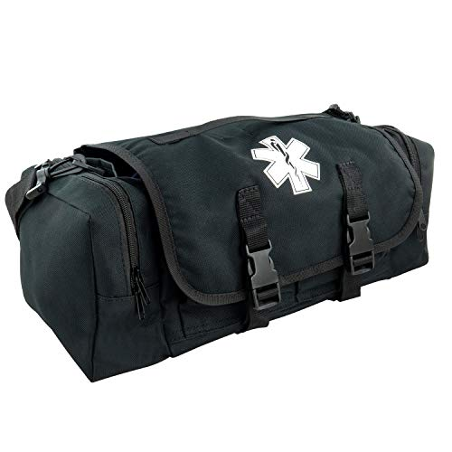 LINE2design First Aid Medical Bag - EMS EMT Paramedic Economical Tactical First Responder Trauma Bag Empty - Portable Outdoor Travel Jump Rescue Bags – Black