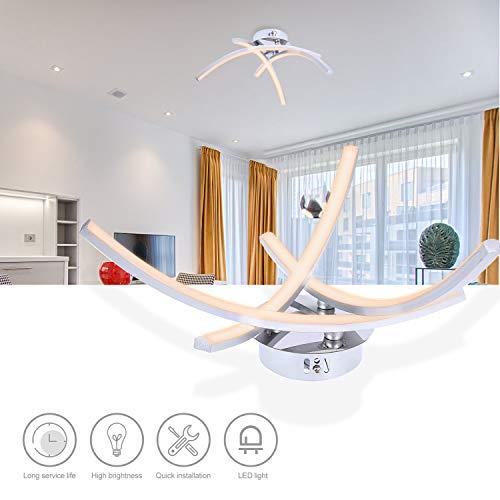 Lixada 3 takken L-ED lichtboogvormig licht 18W aluminium plafondlamp voor slaapkamer woonkamer decoratie lamp