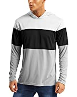 MAGCOMSEN UV Shirts for Men Fishing Shirts for Men with Hoodie Hiking Shirts for Men Athletic Shirts Long Sleeve Shirts for Men Rash Guard for Men
