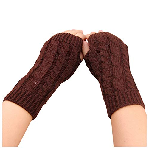 Winter Knitted Arm Fingerless Gloves Women's Knitted Touch Gloves Stretch Keep Warm Riding Gloves With Mobile Phone Warm Fashion Mitten Knit Crochet Gloves