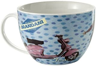 Brandani Tazza capuccino colazione musica anni 50 vintage Porcellana Bone China