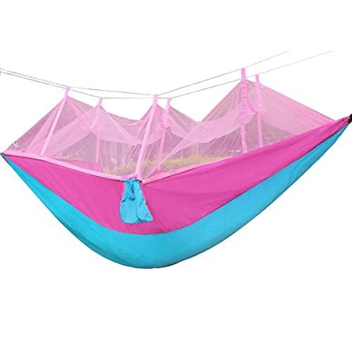 XHLLX Hamaca portátil al aire libre con mosquitero que acampa cama colgante columpio doble silla colgante capacidad de rodamiento de cama alcanza 300 kg regalos