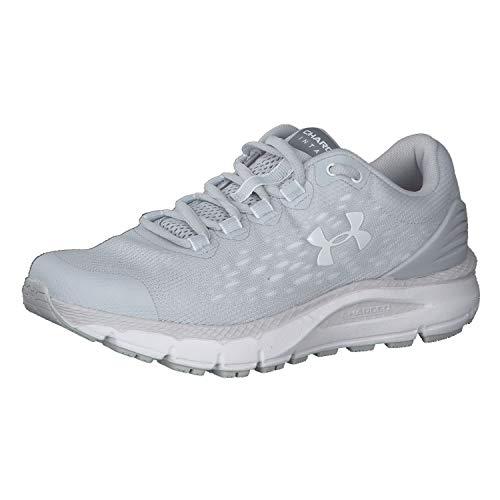 Under Armour Charged Intake 4 Zapatillas de correr para mujer, (Halo Gris (102)/Blanco), 37 EU