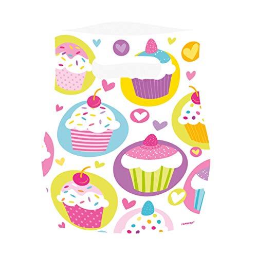 amscan - 997215 - 6 Sacs de Fête Cupcake