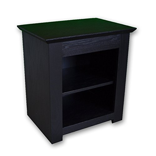 Stealth Furniture Secret Compartment Nightstand (Diversion Safe) with RFID Lock - Black Paint on Oak