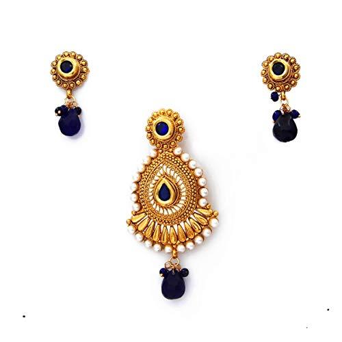 Caratyogi cobre chapado en oro Multi Blue Blue-Crystal