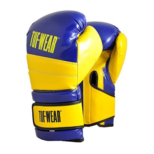 TUF WEAR Boxhandschuh Eagle Training Safety Spar Blue Yellow, blau/gelb, 283,5 g (10 oz)
