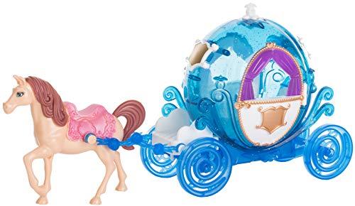 Brandsseller Carruaje de princesa con caballo, carruaje de juguete, color azul