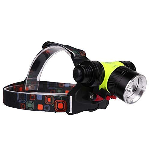 LED Scheinwerfer Scheinwerfer Stirnlampe Taschenlampe USB Wiederaufladbare Dual Light Source Taschenlampe Blitzlicht zum Tauchen, Klettern, Camping, Wandern, Angeln, Outdoor-Abenteuer