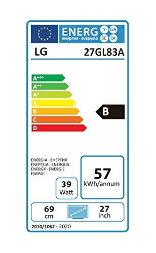 LG 27GL83A-B 68,58 cm (27 Zoll) Ultragear™ WQHD Gaming IPS Monitor (144 Hz, 1ms GTG, G-Sync, DAS Mode), schwarz - 12