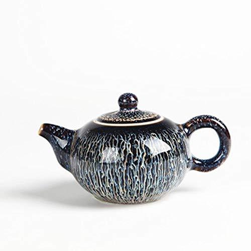Ceramic Teapot Ceramic Teapot Handmade Teapot Creative Bubble Teapot for Bulk Tea and Tea Bags Porcelain Teapot (Color : Black, Size : 180ml)