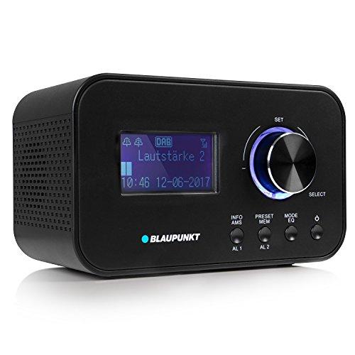 BLAUPUNKT CLRD 30 Radiowecker | Digital Radio DAB+ | Uhrenradio mit USB Ladefunktion | zwei Weckzeiten | Snooze Funktion und Sleeptimer | 6 Watt RMS |RDS (Senderanzeige) | schwarz