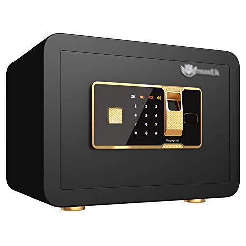 Digital Safe Con Serratura A Combinazione Codice E Chiave,35x25x25cm Impronta Digitale Biometrica Safe Box, Per Gioielli Contanti Documenti,Black