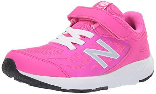 New Balance Kid's 519 V1 Alternative Closure Running Shoe, Peony/White, 13 M US Little Kid