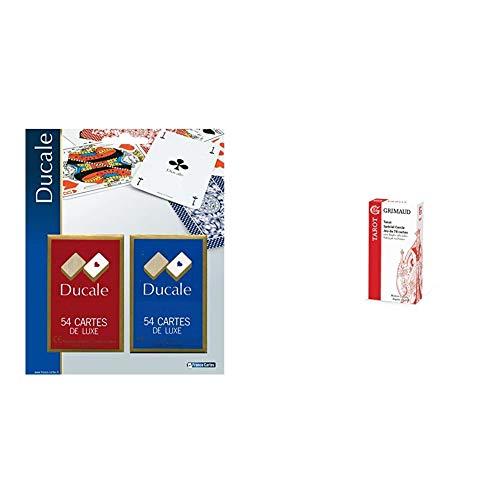 Grimaud Jouer DUCALE, 2 Jeux de 54 Cartes sous blister-404643, 404643 & Origine - Tarot 78 Cartes - Jeu de Cartes