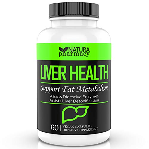 Liver Support Supplements with Milk Thistle Extract for Liver Detox (60 Capsules)