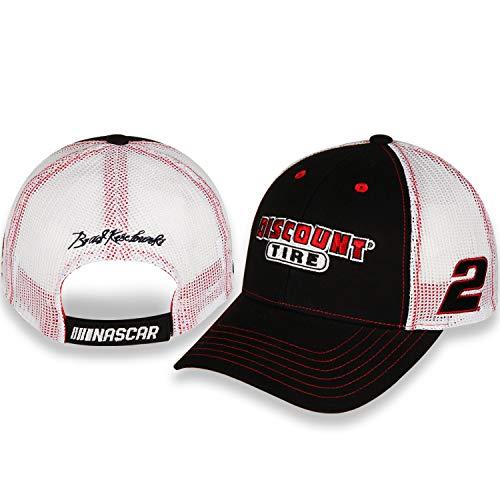 Checkered Flag Brad Keselowski 2020 Dis-Count Tire Sponsor Mesh Hat Black