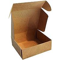 Kraft Cajas de Regalo (Pack de 50) - 13x12x5cm Marrón Kraft Papel Cajas de Regalo Autoensamblables para Presentación Regalo, Fiestas, Bodas, Galletas y Joyas