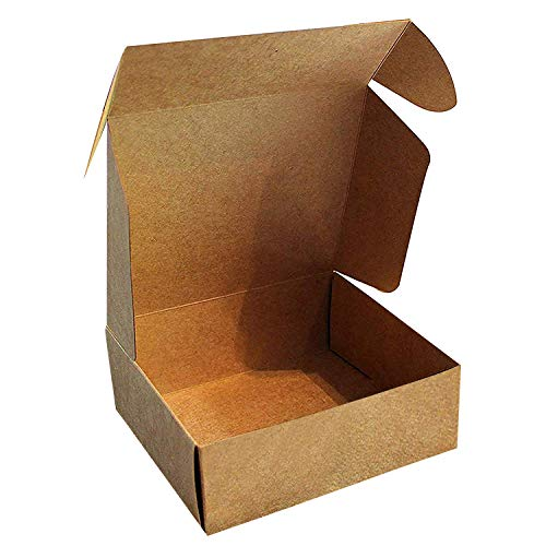Kraft Cajas de Regalo (Pack de 50) - 13x12x5cm Marrón Kraft Papel Cajas de Regalo...