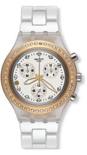 Swatch Reloj de Cuarzo Woman Unisex Full-Blooded Marvelous Yellow 43.0 mm