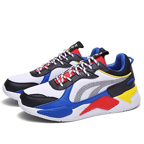 N\C Par de Zapatillas Transpirables para Correr Calzado Deportivo de Moda para Hombres y Mujeres Deportes con Cordones Entrenadores para Hombres Tallas Grandes Deportes para Mujeres