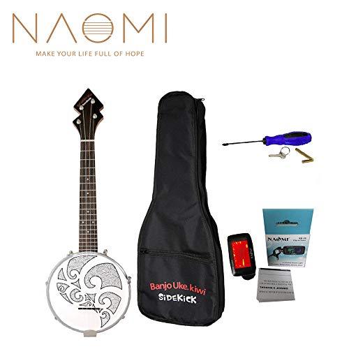 BanjoUke SideKick Tenor Banjolele ukulele banjo W/Gig Bag +Tuner +Strap BANJOUKE Tattoo Patten