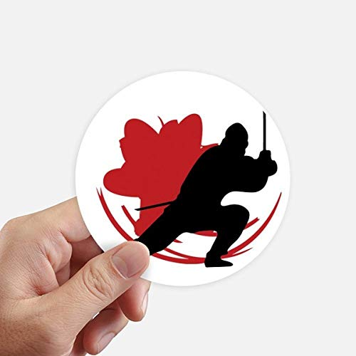 DIYthinker Japan Azië Samurai Katana Sakura actie ronde Stickers 10 Cm muur koffer Laptop Motobike Decal 8 Stks