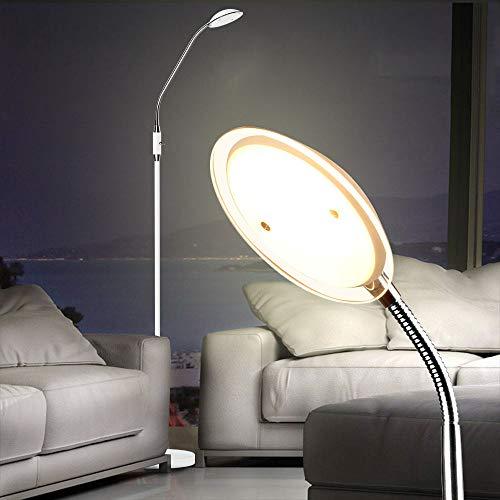Depuley 5W LED Stehlampe Modern Metall, Leselampe Kinderzimmer 360 ° schwenkbar, 480lm, 3000K, 14 SMD-Chips, Stehleuchte mit Kippschalter für Büro, Arbeitszimmer, Studio, Wohnzimmer, Schlafzimmer