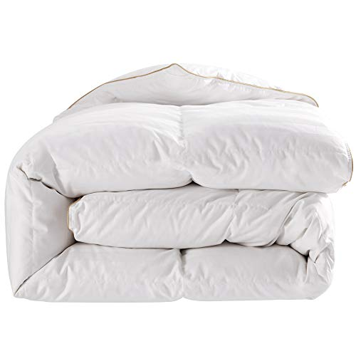puredown Comforter Goose Down Comforter-600 Fill Power Cal King-Cotton...