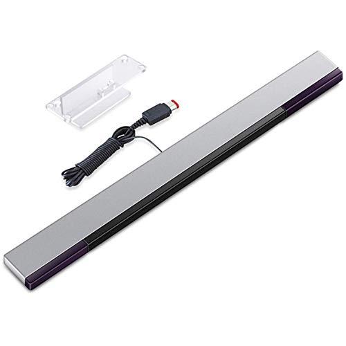 Wii Sensorleiste Ersatz Infrarot-LED-Sensor Bar für Nintendo Wii & Wii U verkabelt enthält klare Haltung [video game] für Wii-Konsolen-Controller WII U Sensorleiste