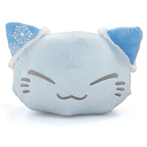 Meralens Nemu Nemo Neko Weisse Katze mit blauen Ohren und Schneemuster Kuscheltier Manga Anime Otaku Kawaii Stofftier Plüschtier Plüsch Plush Original aus Japan Höhe 25cm Breite 34cm