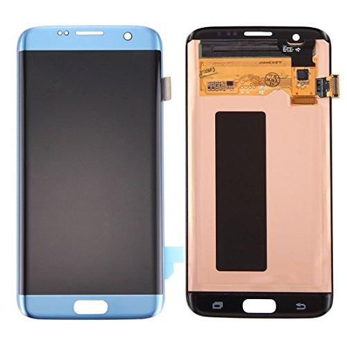 Reserveonderdelen LCD-scherm + Touch Screen Digitizer Compatibel met de Samsung Galaxy S7 Edge / G935 Voor mobiele telefoons (Color : Blue)