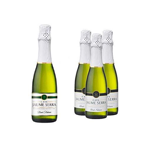 Lote de 12 Botellines Botellas Cava Jaume Serra Brut Nature 375ml - Vinos Baratos para Detalles de Bodas
