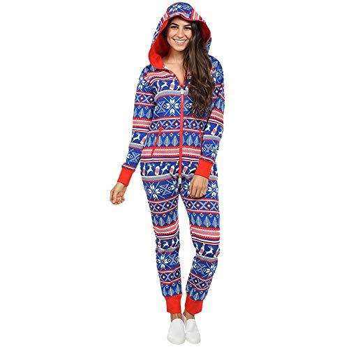LZJDS Hot Style Weihnachten Herbst und Winter Weihnachten Damen Pyjama Home Overall...