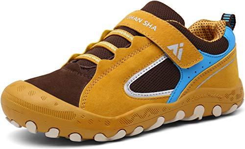 Mishansha Zapatillas Running Niño Ligeras Zapatillas de Senderismo Amarillo 25
